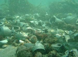 basura fondo marino